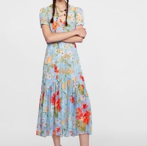 Zara Blue floral dress
